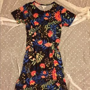 Lularoe Carly black multicolor floral XS